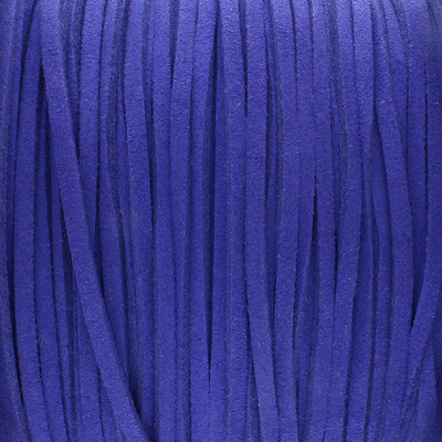 Textilband in Wildlederoptik 2,5mm - BLAU
