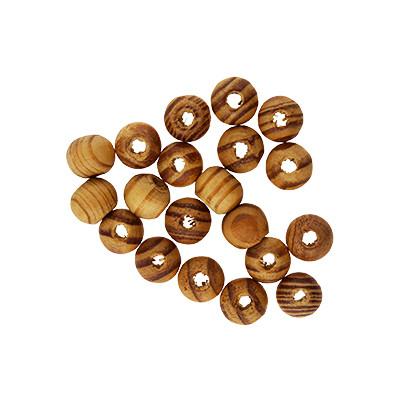 Holzperle (10 Stück) aus echt Holz, innen 2mm, 8mm, natur