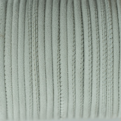 Veloursleder rund gesäumt, 100cm, 6mm, HELLGRAU