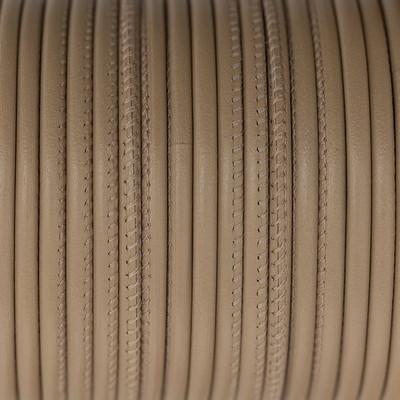 Premium Nappaleder rund gesäumt, 100cm, 4mm, CAPPUCCINO