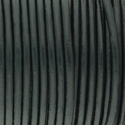 Rundriemen, Lederschnur, 100cm, 1,5mm, GRÜNBLAU