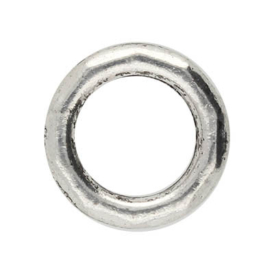 Ring, rund, 1 Stück, 12x2mm, Metall, antik silberfarben
