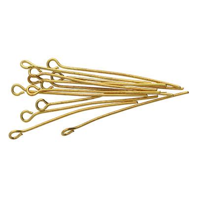 Kettelstifte (50 Stück), 35x0,7mm, Stäbchen (Stiftform), goldfarben, Metall