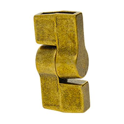 Magnetverschluss, 10x2,5mm, 26x12mm, Metall, antik bronzefarben