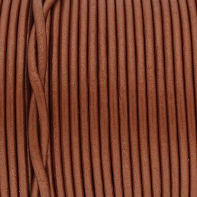 Rundriemen, Lederschnur, 100cm, 2mm, METALLIC POTTERS CLAY