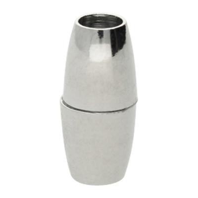 Magnetverschluss, 4mm, 16x7mm, Metall, silberfarben