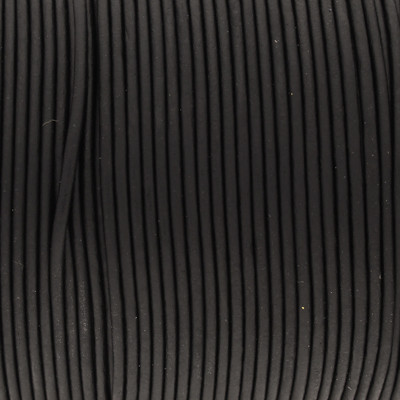 Rundriemen, Lederschnur, 100cm, 1mm, SCHWARZ VINTAGE