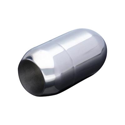 Magnetverschluss, 8mm, 21x12mm, Edelstahl, glänzend, silberfarben