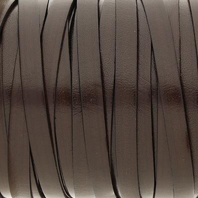 Flachriemen Rindsleder, 100cm, 5x2mm, DUNKELBRAUN