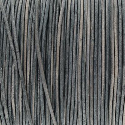 Rundriemen, Lederschnur, 100cm, 1mm, STORMY WEATHER VINTAGE