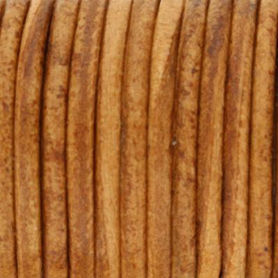 Rundriemen, Lederschnur, 100cm, 2mm, VINTAGE HELLBRAUN