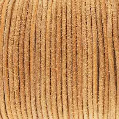 Rundriemen, Lederschnur, 100cm, 2mm, VINTAGE TOASTED COCONUT
