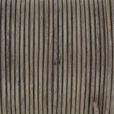Rundriemen, Lederschnur, 100cm, 1,5mm, METALLIC TAUPE