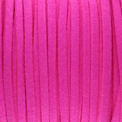Textilband in Wildlederoptik 3,00mm - NEON PINK