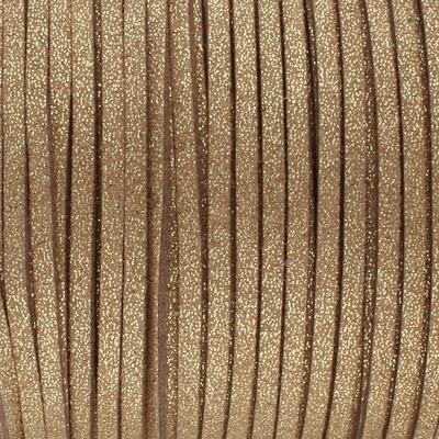 Textilband in Wildlederoptik (100cm), 3,0mm breit - GOLDSTAUB