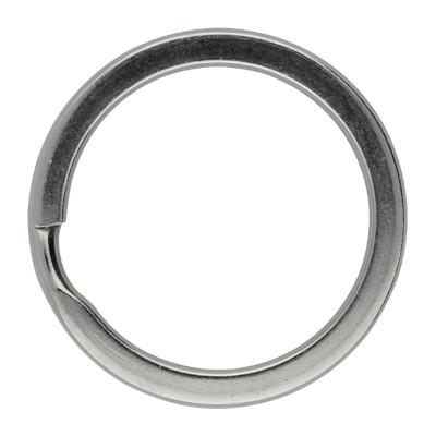 Schlüsselring, Spiralring, rund, 1 Stück, 32x3mm, Edelstahl, silberfarben