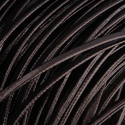 Kunstleder flach (100cm), 2x1mm breit - BRAUN LACK