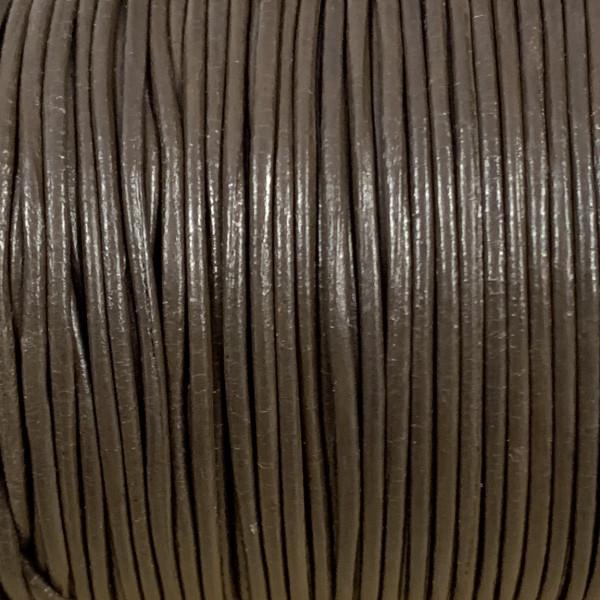 Rundriemen, Lederschnur, 100cm, 1mm, DUNKELBRAUN