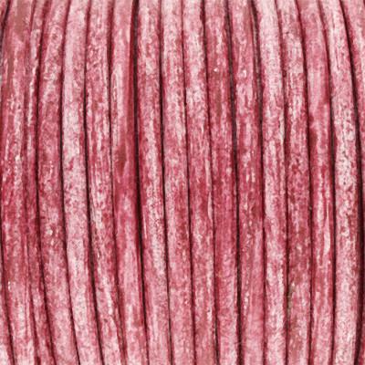 Rundriemen, Lederschnur, 100cm, 3mm, ROTVIOLETT meliert