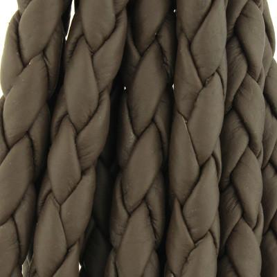 Nappaleder rund geflochten - extra weich, 100cm, 6mm, TAUPE