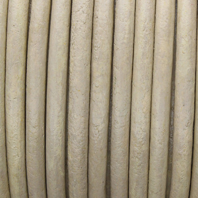 Rundriemen, Lederschnur, 100cm, 3mm, METALLIC BEIGE