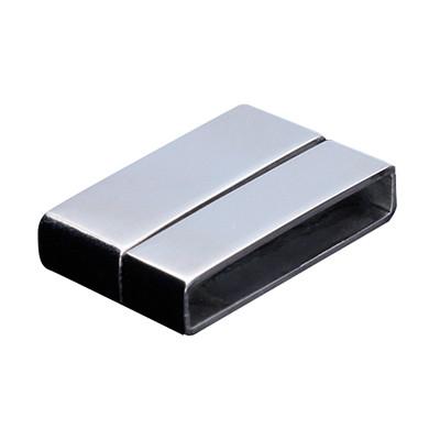 Magnetverschluss, 20x13x4mm, Edelstahl, innen 19,5x5x3mm, silberfarben