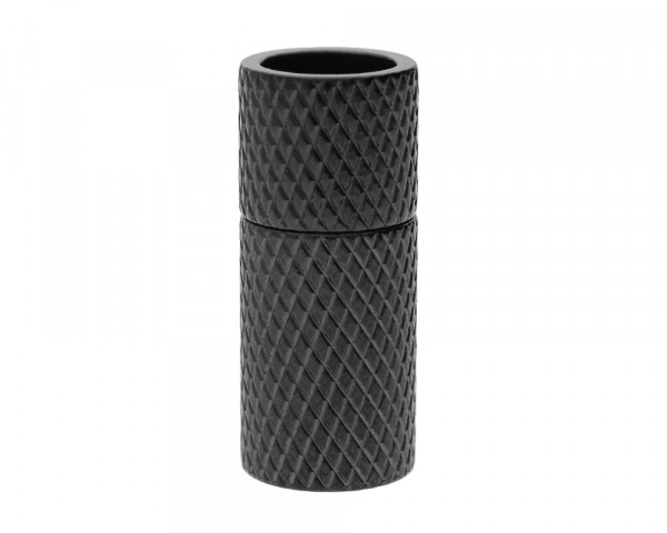 Magnetverschluss, 6mm, 19X8mm, Edelstahl, schwarz-gemustert