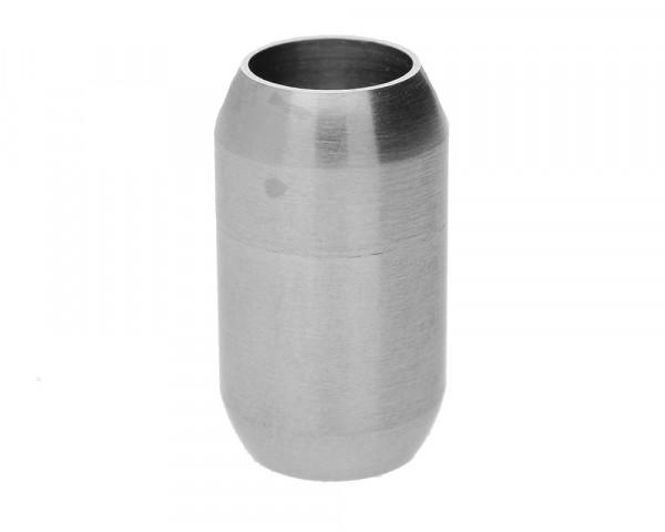Magnetverschluss, 8mm, 21x12mm, Edelstahl, matt, silberfarben