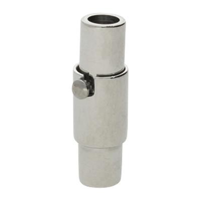 Magnetverschluss, 3mm, 16,5x5,5 mm, Edelstahl, silberfarben