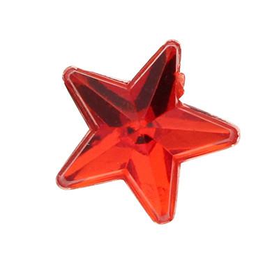 Cabochon, Stern, 5 Stück, 10x1,5mm, rot, glatte Rückseite