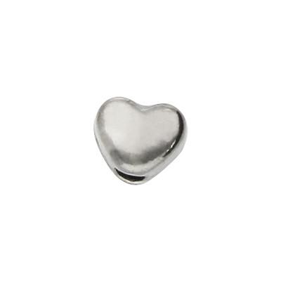 Perle, Herz, innen 1,5mm, 4x3,5x3mm, schwarz, Metall
