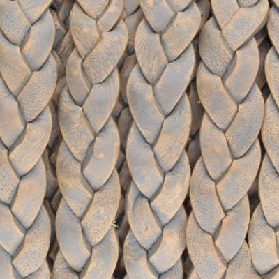 Flachriemen Rindsleder, 100cm, 9x2,7mm, GRAU meliert