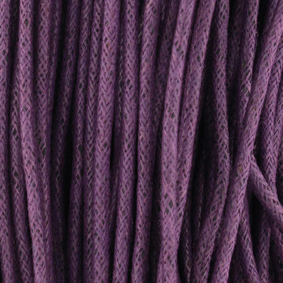 Gewachstes Schmuckband aus Baumwolle, 100cm, 2mm breit, lila