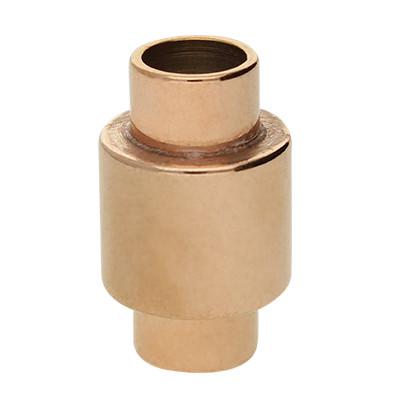 Magnetverschluss, 6mm, 20x12mm, Edelstahl, roségold