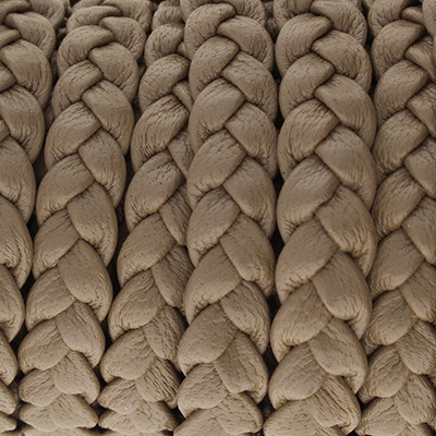 Nappaleder flach geflochten, 10x3,5mm, TAUPE