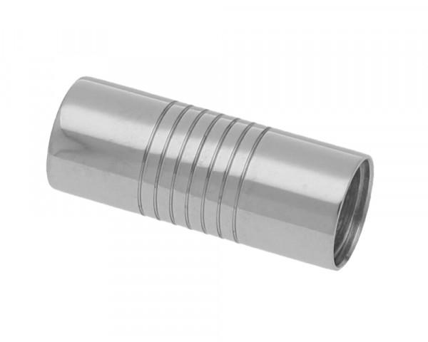 Magnetverschluss, 6mm, 20x8mm, Edelstahl, silberfarben