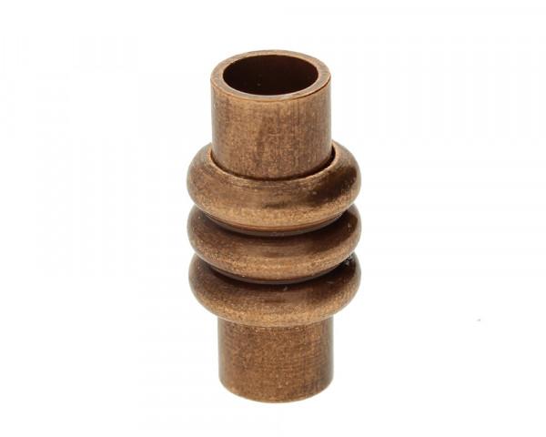 Magnetverschluss, innen 5mm, 19x10mm, kupferfarben, Metall
