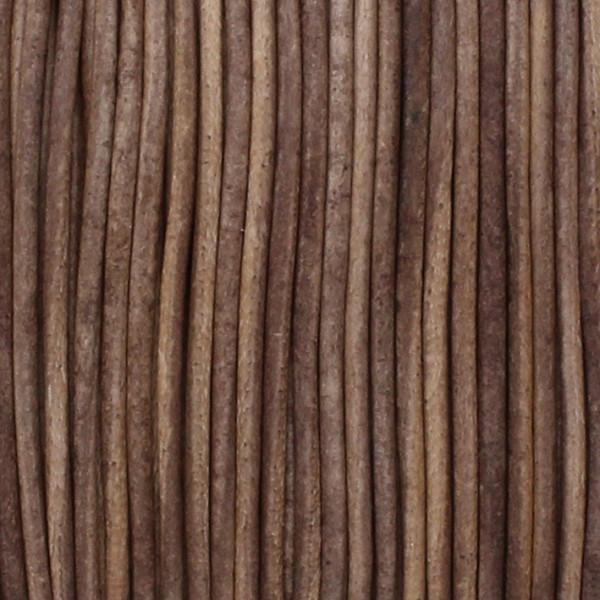 Rundriemen, Lederschnur, 100cm, 1,5mm, VINTAGE TAUPE