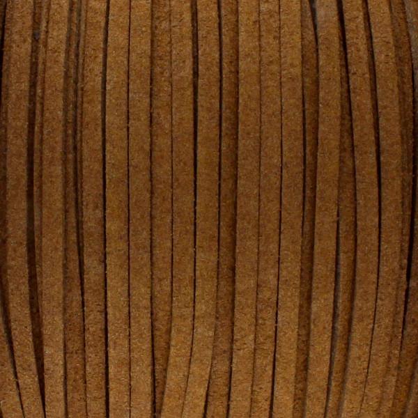 Textilband in Wildlederoptik 3,00mm - TERRABRAUN