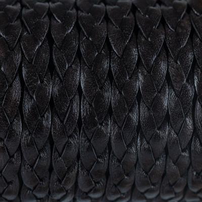 Flachriemen Rindsleder geflochten, 100cm, 9x2,7mm, BRAUN