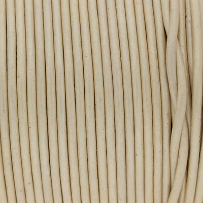 Rundriemen, Lederschnur, 100cm, 2mm, METALLIC SEEDPEARL