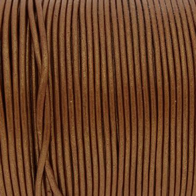 Rundriemen, Lederschnur, 100cm, 1,5mm, METALLIC CARAMEl