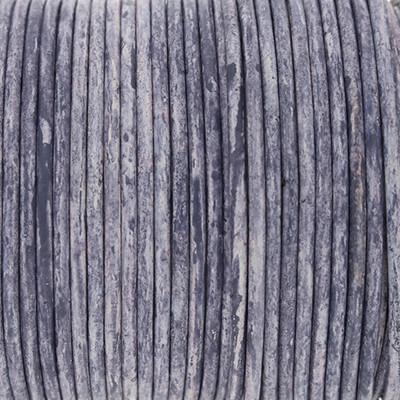 Rundriemen, Lederschnur, 100cm, 2mm, DUSTED PERI meliert