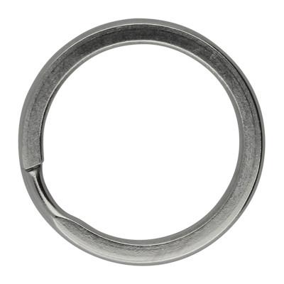 Schlüsselring, Spiralring, rund, 1 Stück, 20x2mm, Edelstahl