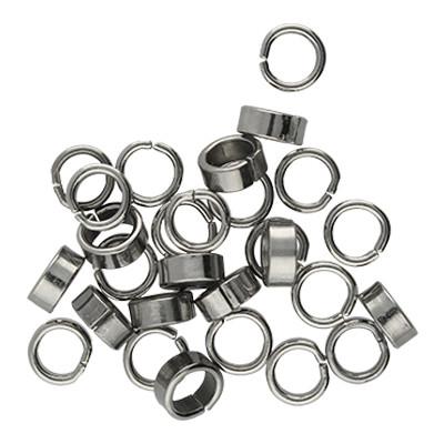 Bindering, rund, 10 Stück, 7x3mm, innen 5mm, Edelstahl