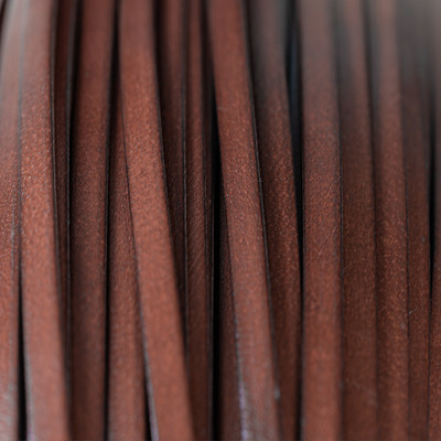 Flachriemen Rindsleder, 100cm, 8mm, BRAUN