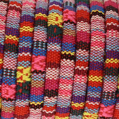Ethnoband aus Baumwolle, 100cm, Ø 4mm breit, PINK MIX
