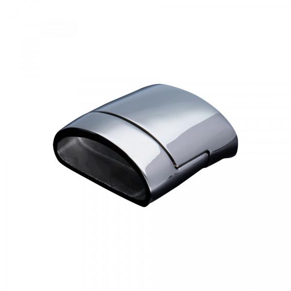 Magnetverschluss, 20x4mm, 22x20x6mm, Edelstahl, für flache Bänder, silberfarben