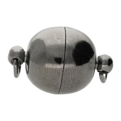 Magnetverschluss, Öse 2mm, 19x12mm, Metall, schwarz