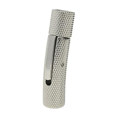 Bajonettverschluss, 5mm, 30x8mm, Edelstahl, matt geriffelt, silberfarben